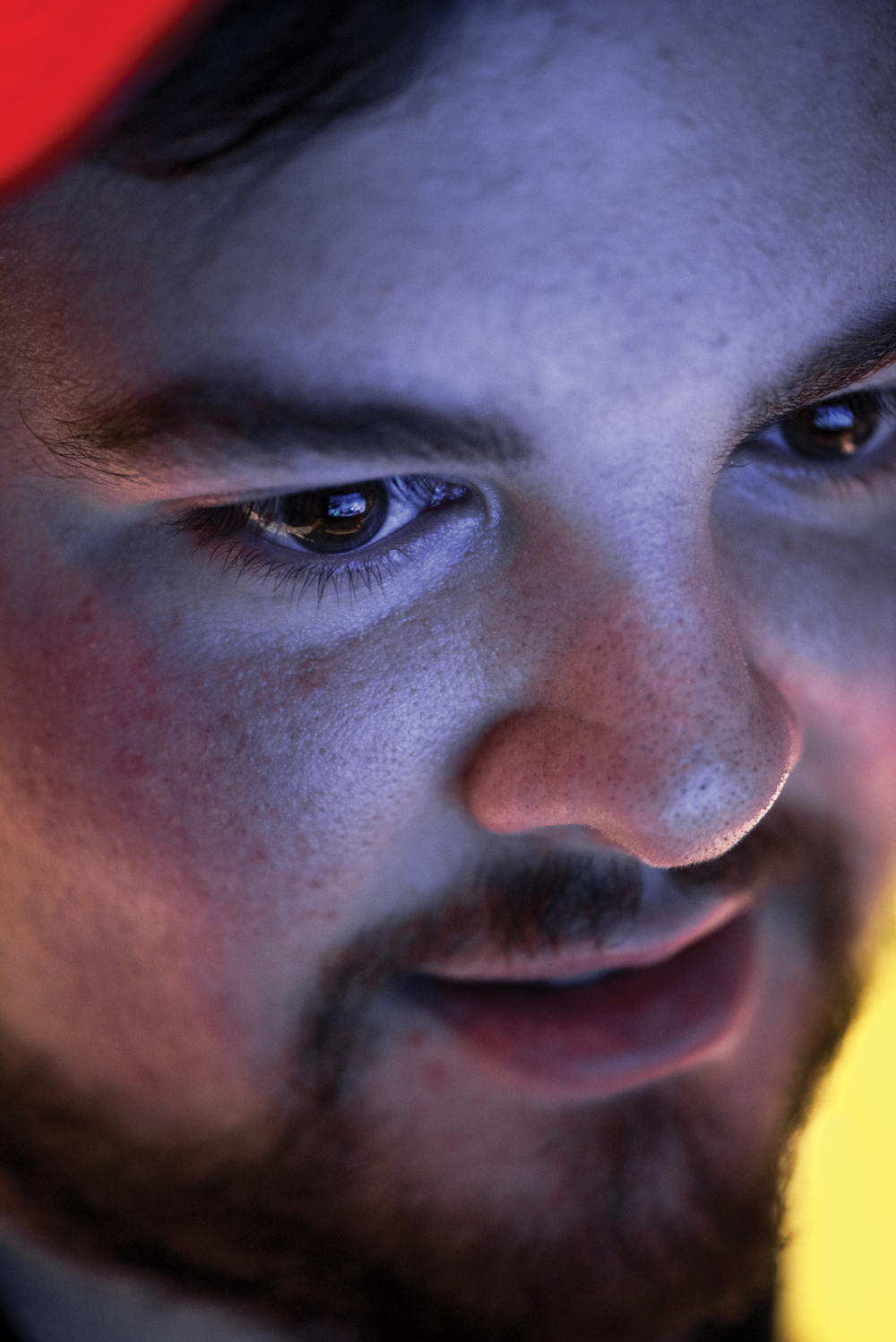 """Spencer """"Hiko"""" Martin of """"Team Liquid"""" warms up backstage before competition in the MLG Finals in Columbus, Ohio."""